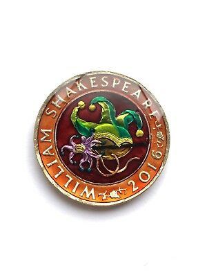 Enamelled Coin Shakespeare JESTER COMEDY £2 POUND COIN