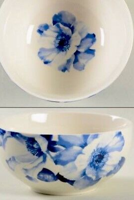 NEW 222 FIFTH IDELLE BLUE China Ivory Floral Discontinued Salad / Cereal Bowl