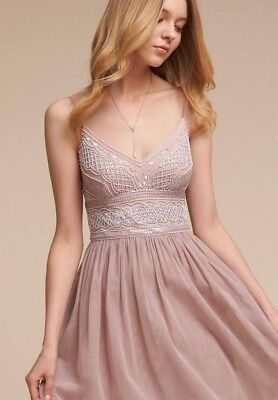 SALE NWT BHLDN Adrianna Papell AIDA Pink Rose M.O.B. Bridesmaid Sz 6 MSRP $280