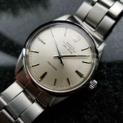 Rolex Vintage Air King Oyster Perpetual Precision 1962 Automatic Men Watch LV371