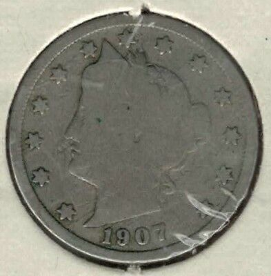 Liberty Head Nickel, US five cent piece minted in 1907 (#1)