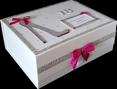 18th Birthday Gift Large PERSONALISED Keepsake Memory Box 60th 40th 50th Hen