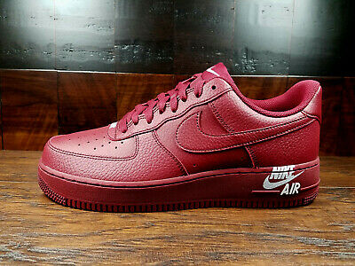 WomenMen Authentic Nike Air Force 1 '07 Leather Team RedWhite AJ7280 600
