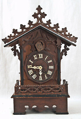 Antique German Black Forest shelf cuckoo clock @ 1890 Original Untouched