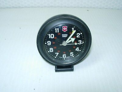 Vintage Swiss Army Travel Camping Alarm Clock working