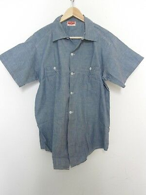 Vintage 50s Powr House Chambray Shirt NOS Deadstock