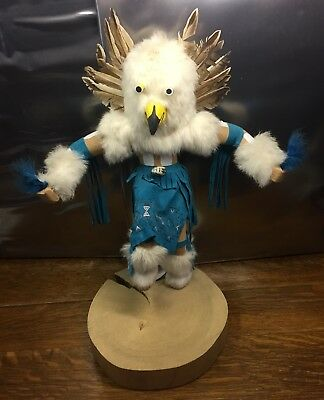 Kachina Owl Doll Navajo Hand Crafted Native American Southwest Indian Signed Vtg