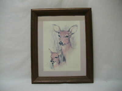 "Home Interior Homco""doe & Fawn"" Picture"