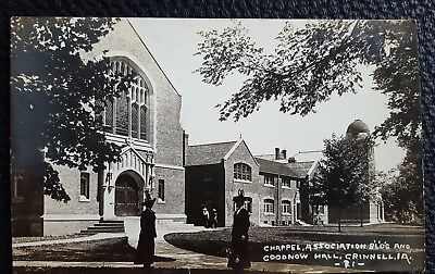 """RPPC Grinnell College """"Chapel, Association Bldg and Goodnow Hall"""" early 1900s"""