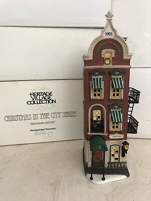 Dept 56 The Beckman House Christmas In The City Heritage Village Collection