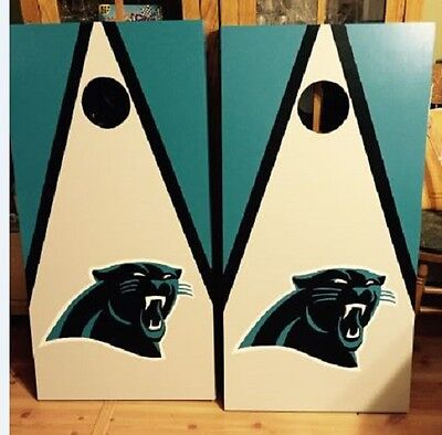 North Carolina Panthers Cornhole Custom Made Boards And Free Bags Outdoor Sports