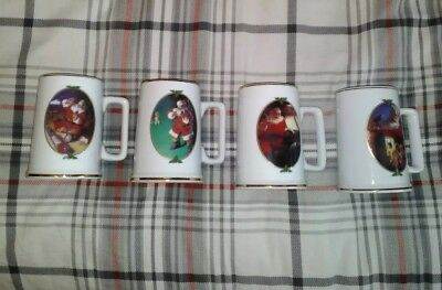 Set of 4 Coca Cola Collector Edition 1996 Seasons Greetings Mug Christmas Santa