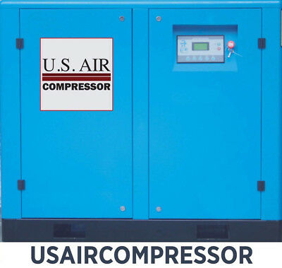 New 10 HP US AIR COMPRESSOR ROTARY SCREW VFD VSD w/ Trad'N Quincy Sullair 40 cfm