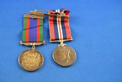 Lot of 2 1939-1945 WW2 Canadian service Medals