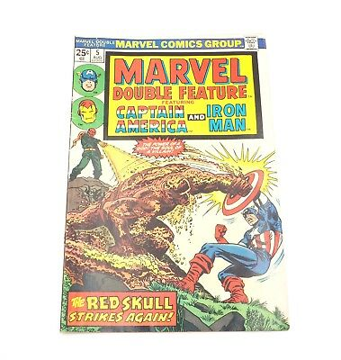 Marvel Double Feature Captain America and Iron Man #5 Aug 1974 Comic Book