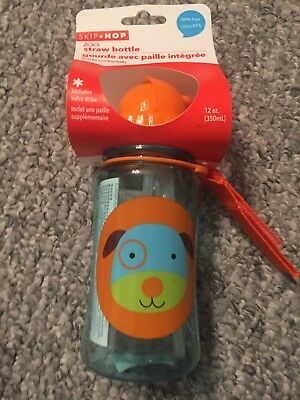Skip Hop Zoo Straw Bottle - Dog