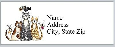 Personalized Address Labels Primitive Country Cats Crow Buy 3 get 1 free (p 627)