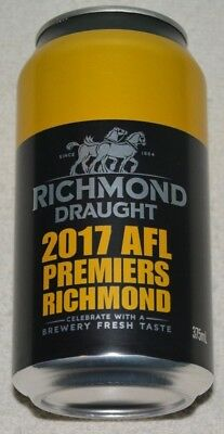 Richmond Draught Beer Can (Full) Limited Edition - 2017 Premiers  Collectable!