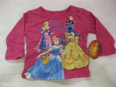 Halloween Disney Trick Or Treat Tee Shirt For Toddler 12mo            NEW h11