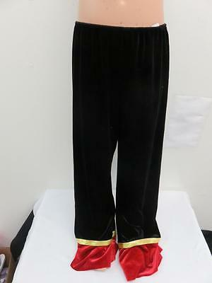Dance Costume Large Child Black Red Velvet Pants Jazz Tap Solo Competition
