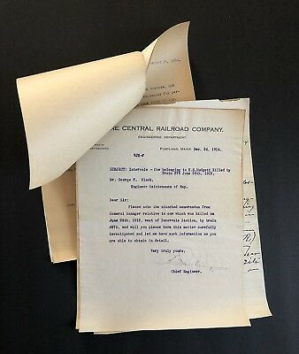 1914 Maine Central Railroad Investigation Of  North Conway NH Train Accident