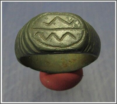 ** TWO SNAKE **Ancient Bronze Roman Ring **AMAZING **