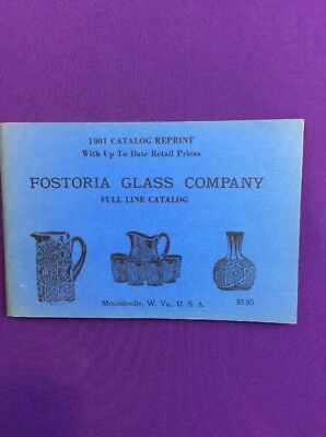 Fostoria Glass Co Catalog Of 1901 Reprint