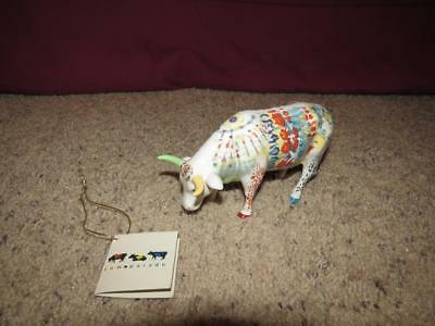 Cow Parade Tie Dye Udderly Groovy Lady Belle Bennett 9170 w/ Tag Mint 2000