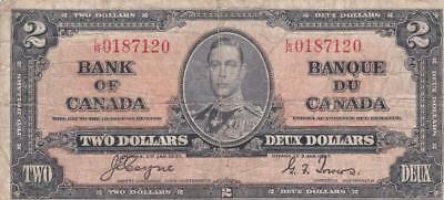 1937 Bank of Canada $2 Coyne Towers LR 0187120