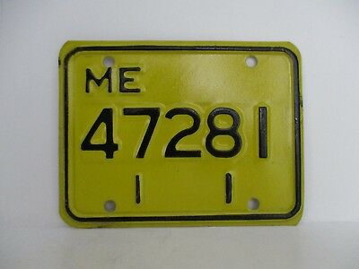 """Vintage Maine 1970's Motorcycle License Plate """"Free Shipping"""""""