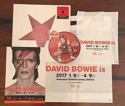 """David Bowie Exclusive Japan Lady Stardust 7"""" / Blackstar Red 12"""" + bags/flyer is"""