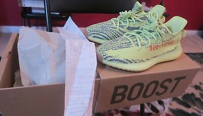 Adidas Yeezy Boost 350 v2 Semi Frozen Yellow size 9.5 AUTHENTIC