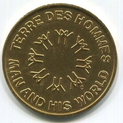 """1967 Montreal Expo Good Luck Token """"Man and His World/ Terre des Hommes"""""""