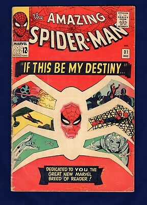 Amazing Spider-man #31 G-VG 1st Appearance Gwen Stacy