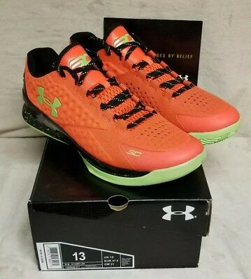 buy popular 953eb ea5a3 Under Armour Steph Curry One 1 Low Sneakers New, Bolt Orange 1269048-811  size