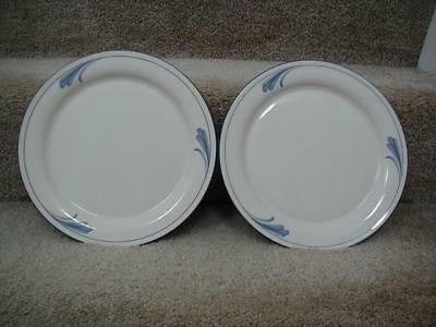 "2 Lenox  Poppies on Blue Brushstrokes Dinner Plates, 10 3/4"" Excellent"