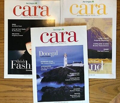 Lot of 3 Aer Lingus inflight magazines, 1998-2000