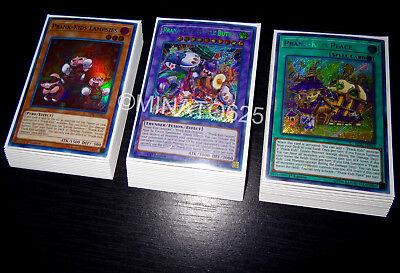 Yugioh Complete Prank-Kids Deck + Ultra Pro Sleeves! Tournament Ready! Holo Rare