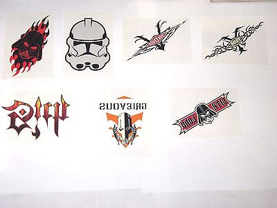 2005 Star Wars Revenge Of Sith Temporary Tattoo Insert 7 Card Lot! Darth Vader!!