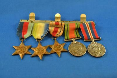 Lot of 5 WW2 Royal Canadian British Issue Service Medals with 3 Campaign Stars