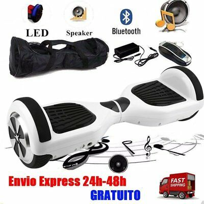 Hoverboard BLUETOOTH Eléctrico Patinete SCOOTER Self Balancing SkateBoard Blanco