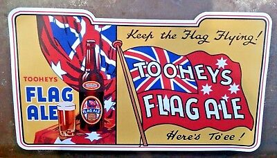 """""""toohey's Flag Ale"""" Sticker / Decal Beer Lager Breweriana Advert"""
