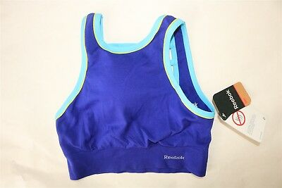 7307d4973570e REEBOK Women s Medium Support Seamless High Neck Cage Back Sports Bra -  SMALL
