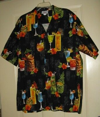 Shirt Tiki Hawaii Drinks Pacific Legend Hawaii Made Vintage Designs 2Xl Usa