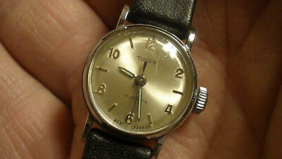 timex watch marlin for women from 1964 wind up 17 full jewels rare clean works