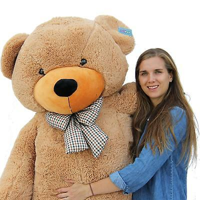 Giant Teddy Bear Christmas Gift Toy Huge Big Stuffed Plush Light Brown 78 Inch