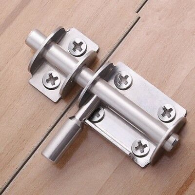 Door Safe Latch Hasp Stainless Steel Sliding Barrel Bolt Lock Home Hardware Chic