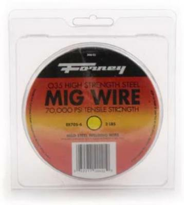 Forney Industries Inc 2 LB, .035, Mig Wire Spool E70S6 Steel Only One