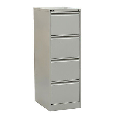 Steel Safety, Four Drawer File Cabinet With Key Lock