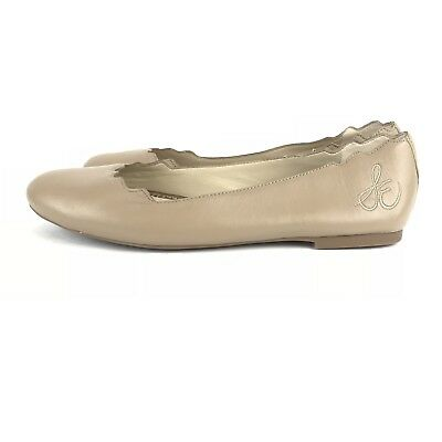 7b7481753b7800 SAM EDELMAN AUGUSTA Scalloped Ballet Flats Nude Tan Shoes Size  8 M ...